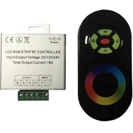 LED vezérlő távirányítóval RGB 216W rádiós érintős fekete 2 év garancia