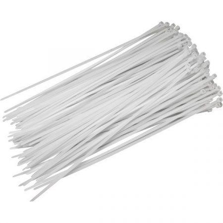 Normál kábelkötegelő 250x4,8 Fehér (25db/cs)