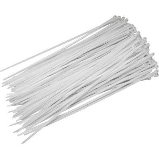 Normál kábelkötegelő 100x2,5 Fehér (50db/cs)