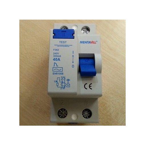 Áramvédő kapcsoló (firelé) 2P 300mA 40A