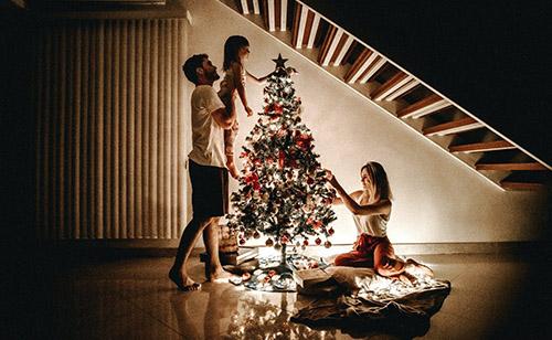 karácsonyi otthoni fények