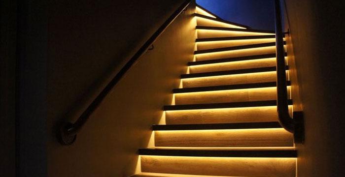 ledes lépcső világítás ötletek