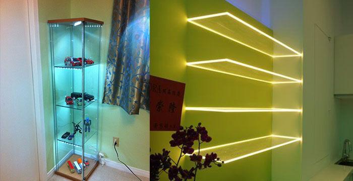 led vitrin világítás ötletek